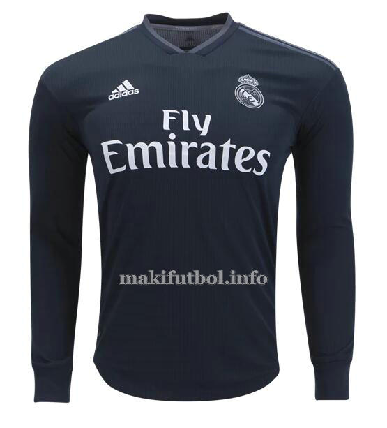 camiseta manga larga segunda real madrid 2018-2019